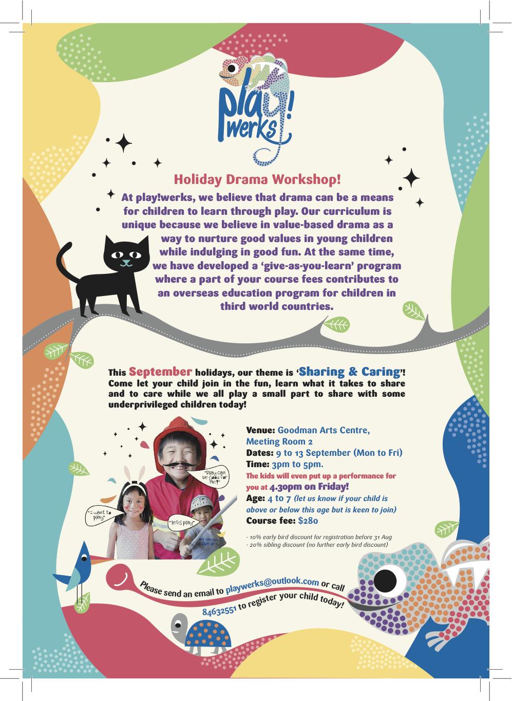 Play!Werks Holiday Drama Workshop, Sept 2013, Singapore