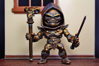 The Loyal Subjects Custom Bronze Skeletor Masters of the Universe figure by Hunter Knight Customs