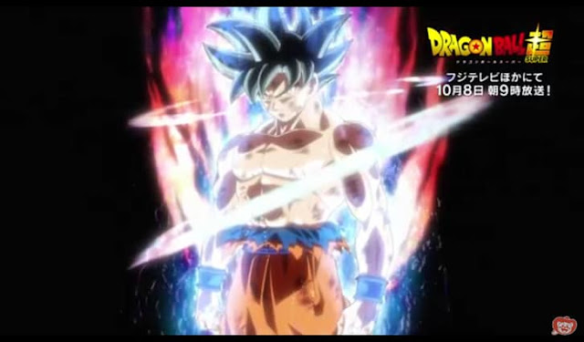 Goku in his new transformation
