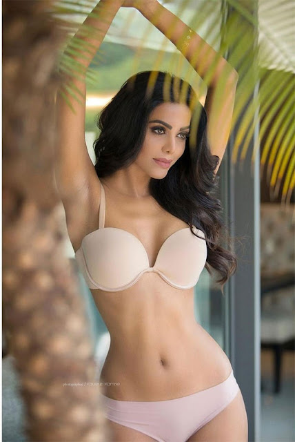 bollywood actress two piece bikini natasha suri photoshoot