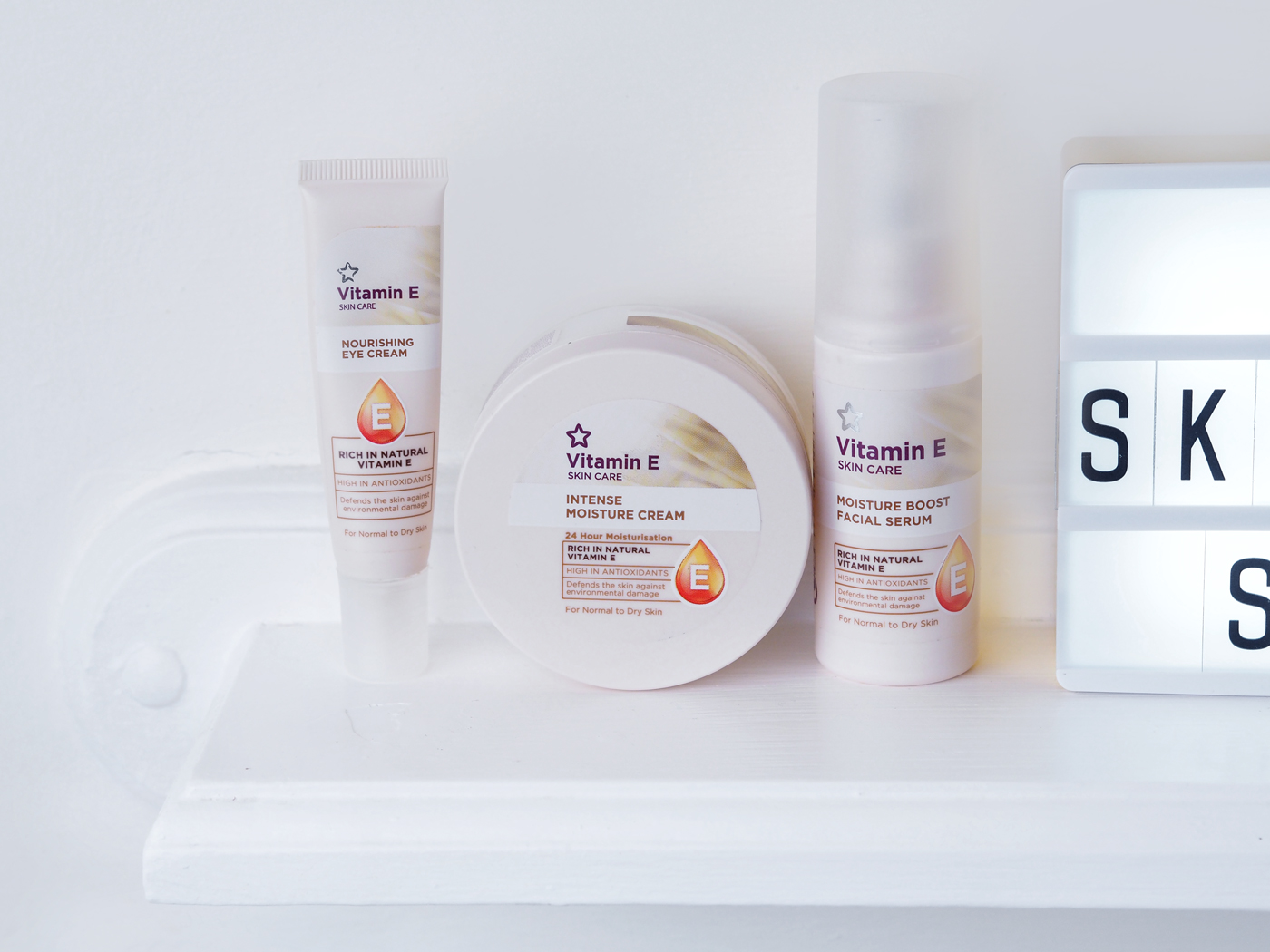 Winter Skincare Shelf moisturisers superdrug vitamin e