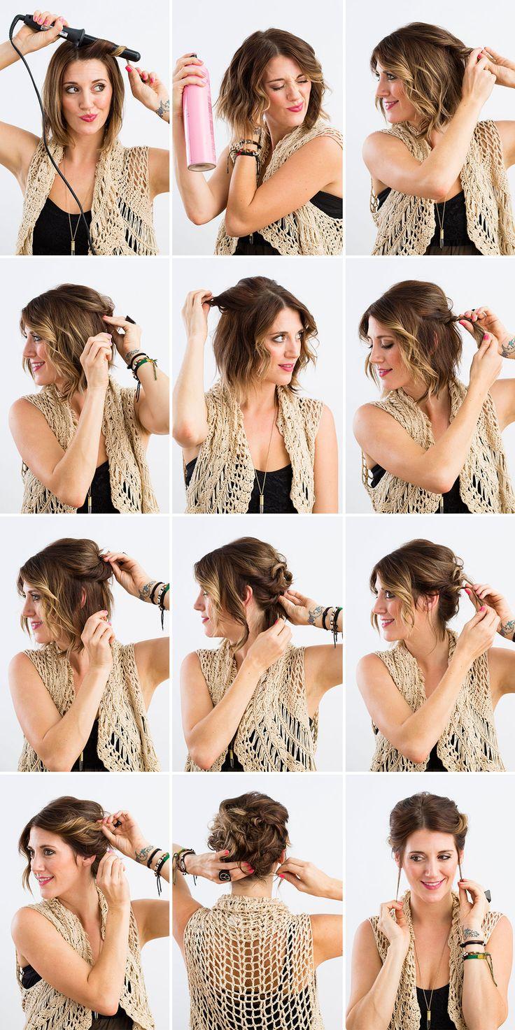 Astounding Hairdos For Short Hair Tutorials Short Hair Fashions Hairstyles For Women Draintrainus