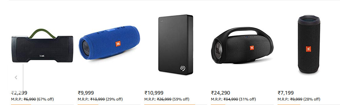 Amazon Great Indian Festival Deals on Headphones and Speakers