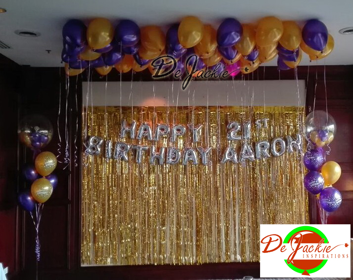 VIP Room Birthday Balloon Decoration