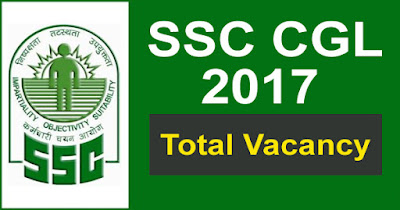 SSC CGL 2017 Total vacancy