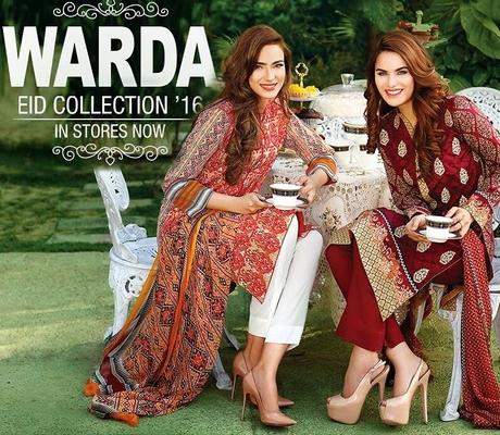886c6c4e8 Warda Designer Eid Collection 2016