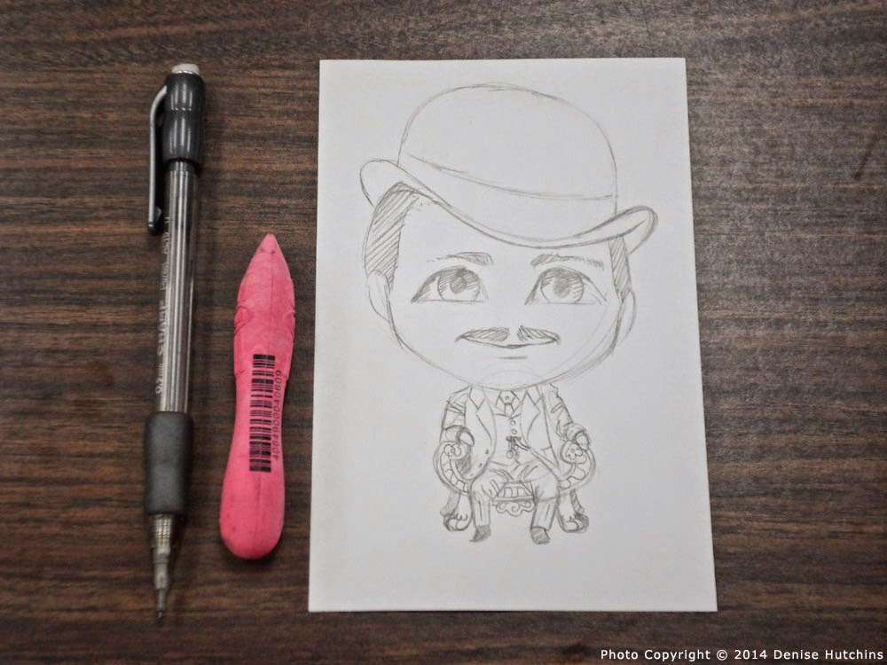 Pencil Drawing of Chibi Butch Cassidy