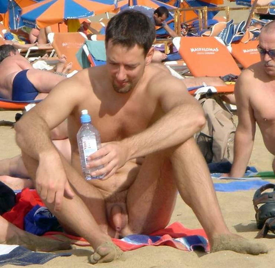 Nude Dudes On The Beach