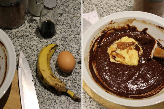 brownie celiacos banana sin tacc chocolate sin manteca