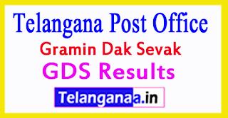 Telangana Post Office GDS Results 2017