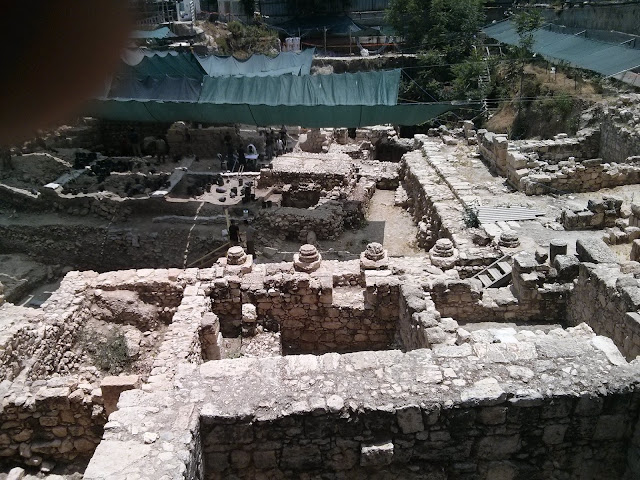 שרידים מהדרך העתיקה לבית המקדש