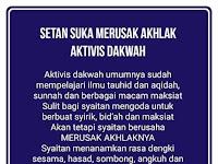 Setan Suka Merusak Akhlak Aktivis Dakwah