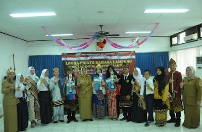 Lomba Pidato Bahasa Lampung Tingkat SMP, Lengkapi Bulan Gemar Membaca 2018