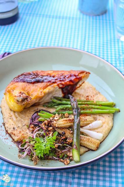 QFSP Maishähnchenbrust supreme mit Polenta und Gemüse