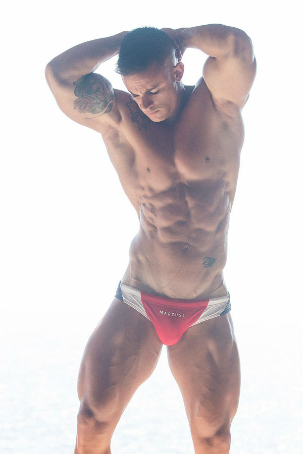 Beefy Aziz Adraoui Shirtless by Adrian C. Martin