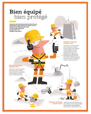 Clod illustration sécurité chantier entreprise BTP
