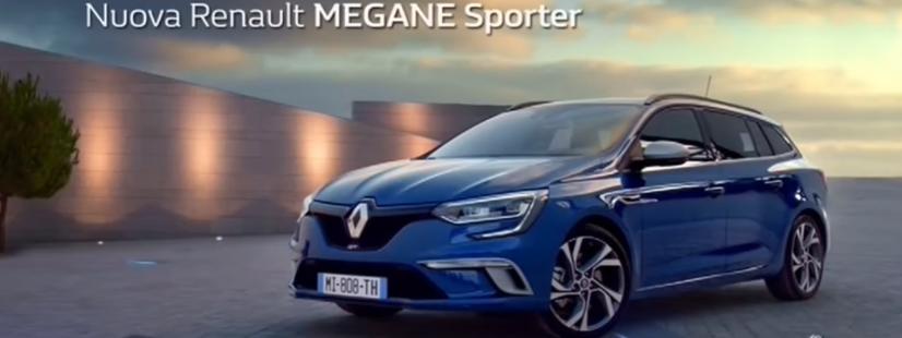 Pubblicità Renault Megane Sporter con Ragazzo e il cane
