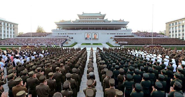 """Em uma carta aberta endereçada aos parlamentos em vários países, a Coreia do Norte acusa o presidente Donald Trump de """"tentar levar o mundo para um terrível desastre nuclear""""."""