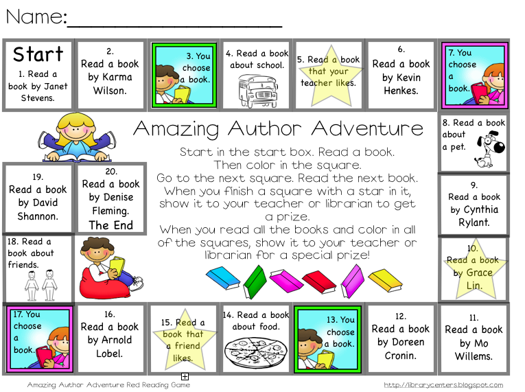 Library Learners Reading Games For Your Students