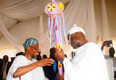 ooni of ife coronation Aregbesola