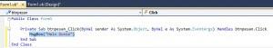 Tampilan View Kode Pada VB Net