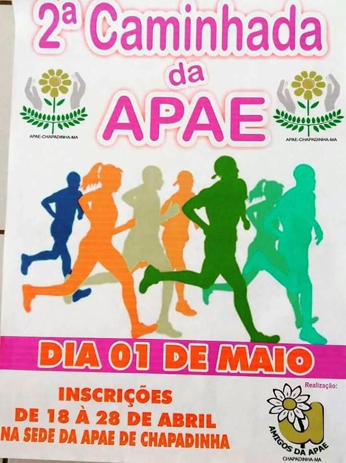Abrace essa causa! Vem aí 2ª Caminhada da APAE de Chapadinha, 1° de maio (domingo)
