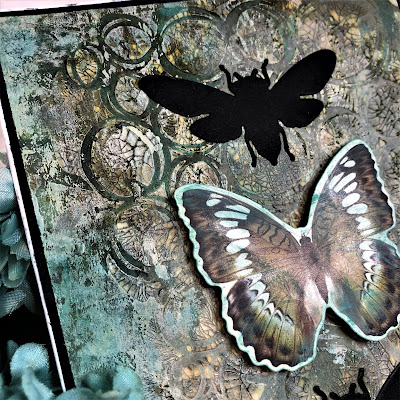 Sara Emily Barker https://sarascloset1.blogspot.com/2018/11/one-of-kind-mixed-media-card.html One of a Kind Mixed Media Card with Tim Holtz Stampers Anonymous, Sizzix Alterations, Ideaology and Distress 2