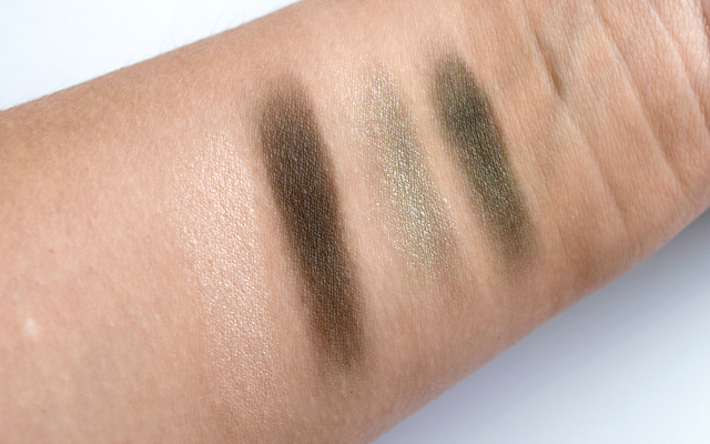 The Body Shop Down to Earth Eye Palette Review Smoky Grey Swatches