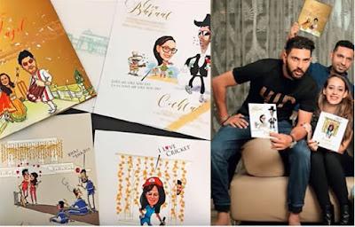 Yuvraj Singh wedding card