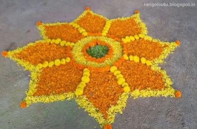 Multidesign Flower Rangolis
