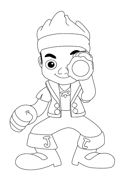 Jake And The Neverland Pirates Halloween Coloring Pages Kdtsyql