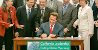 Next week marks the 10-year anniversary of California's landmark global warming law, informally known as A.B. 32. State leaders say the economy has flourished even as emissions have dropped, but economists say California's fiscal picture is not so easy to read. (Photo Credit: AP Images) Click to Enlarge.