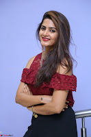 Pavani Gangireddy in Cute Black Skirt Maroon Top at 9 Movie Teaser Launch 5th May 2017  Exclusive 044.JPG