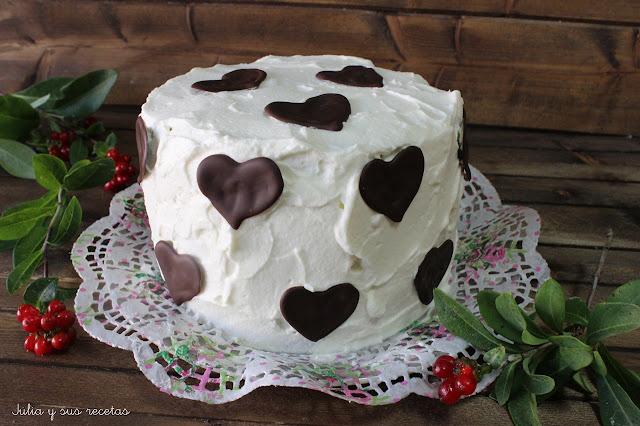 Tarta espiral de chocolate y nata. Julia y sus recetas