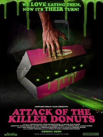 Attack Of The Killer Donuts 2016 Khatrimaza - Dual Audio Hindi 480p WEB-DL 900mb