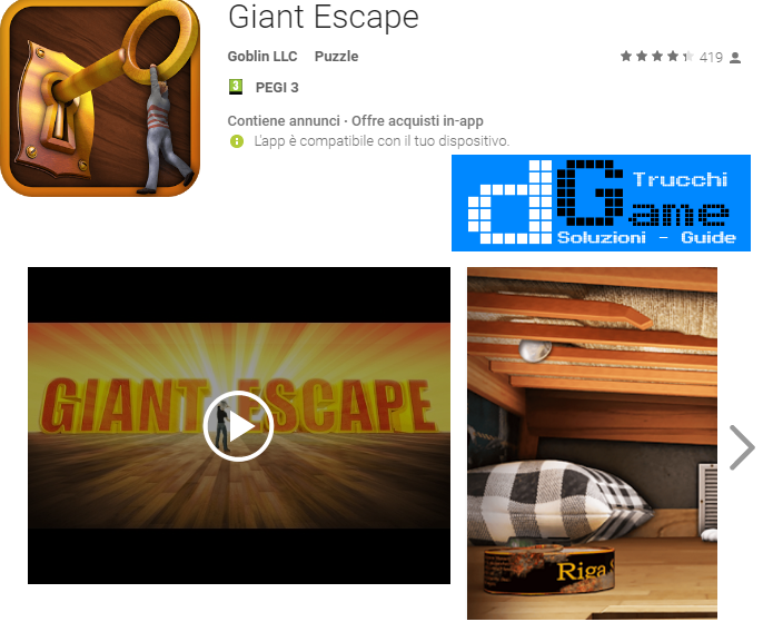 Soluzioni Giant Escape livello 1 2 3 4 5 6 7 8 9 10 | Trucchi e  Walkthrough level
