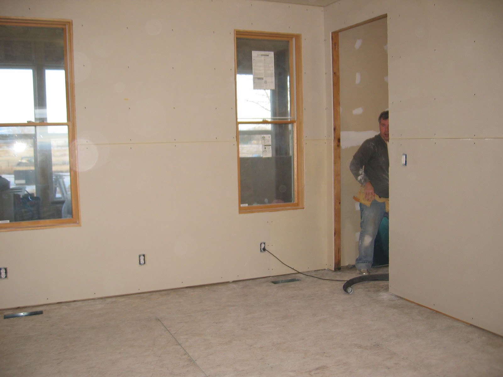 Our House Building Adventure: Sheetrock installed in ...