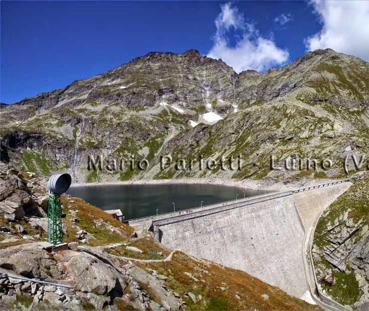 La diga e il lago di Cingino