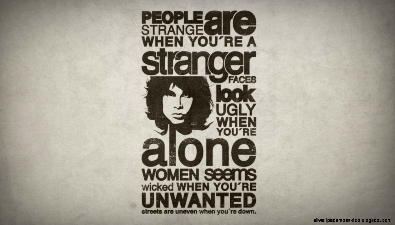 Typography Doors Lyrics Jim Morrison Music Hd Wallpaper All