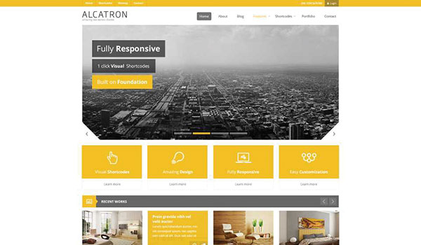 Alcatron-yellow-wordpress-teheme