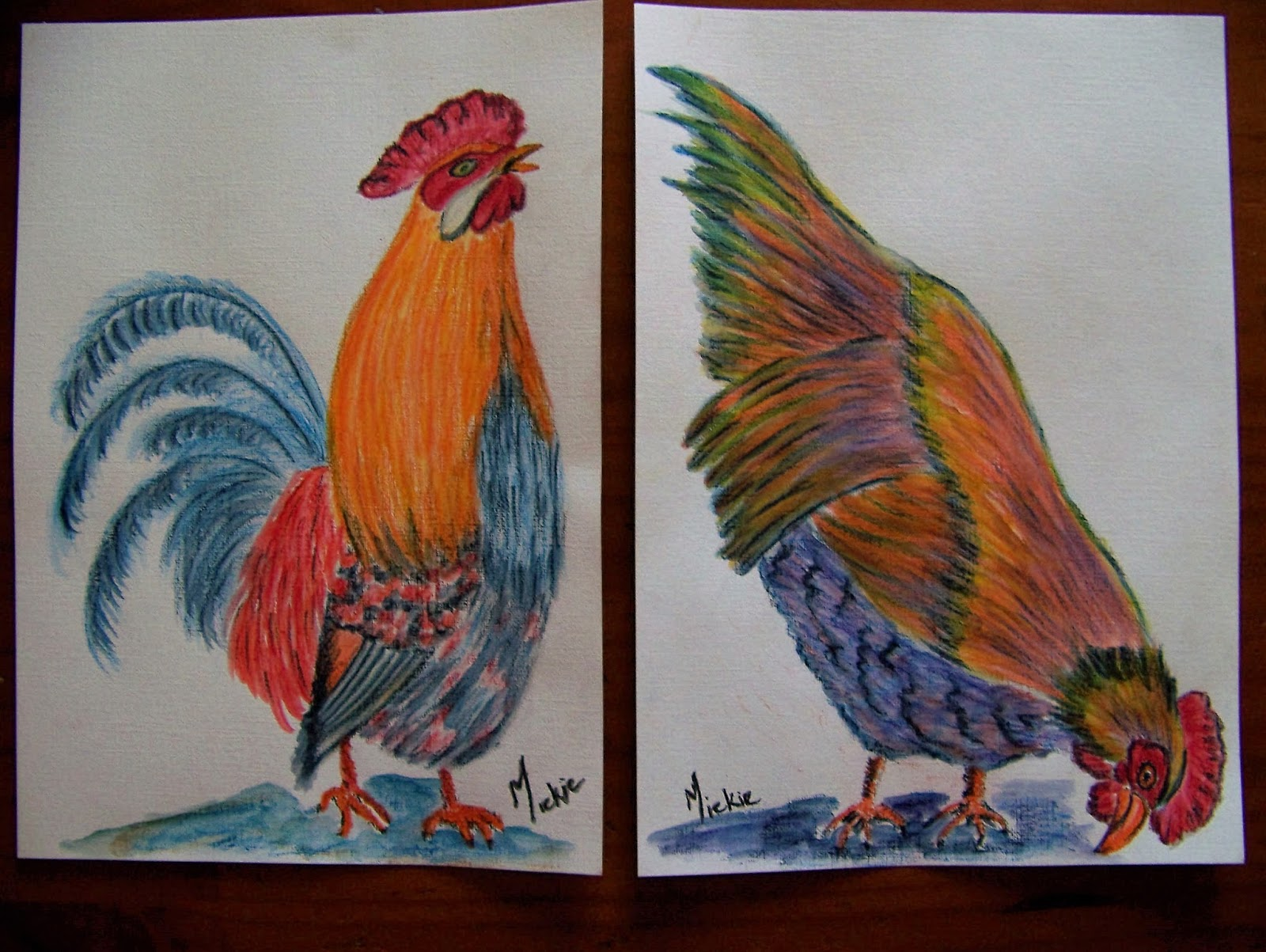 Easy Things To Paint A Pretty Talent Blog Paint A Chicken In Water Soluble Pencils