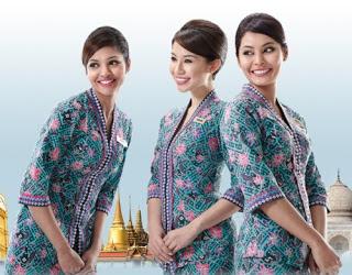 Baju Batik Kerja Bank Seragam Modern Terbaru