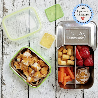 Lunch box fun with chopped chicken tenders. #lunchboxideas