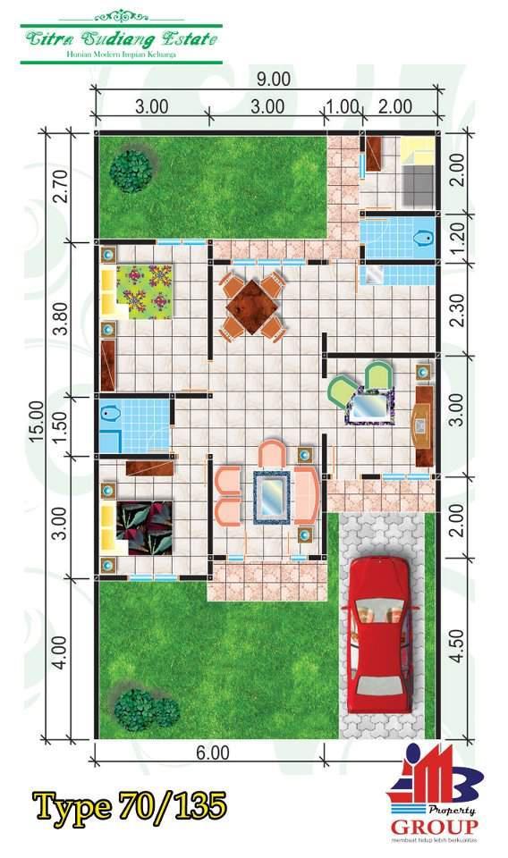 Denah Rumah Type 70 Desain Rumah