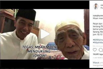 Kata Rommy Mbah Moen Dukung Jokowi, Ustaz Sani: Diralat, Kan Sudah Diaminkan?