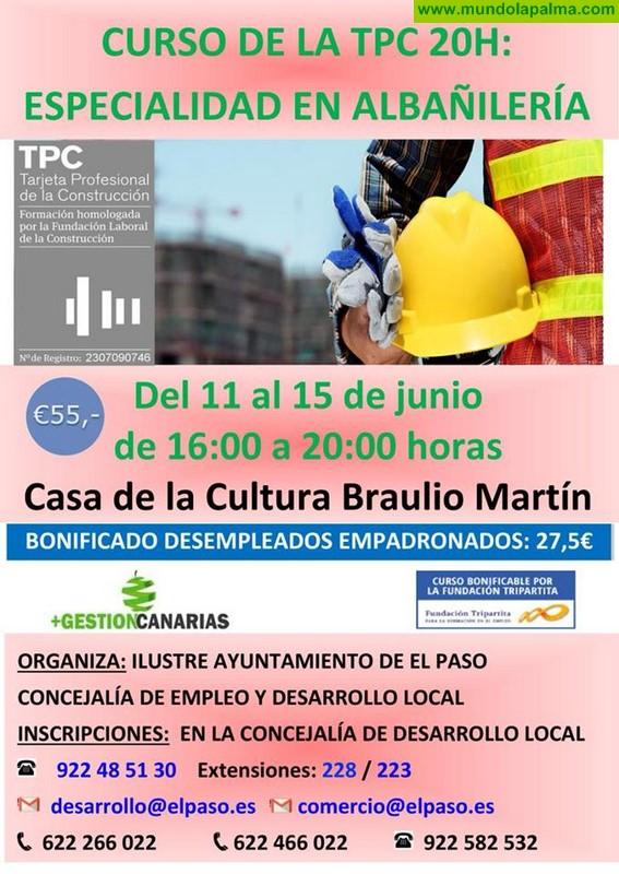 Curso de la Tarjeta Profesional de la Construcción (TPC) - Albañilería 20 horas