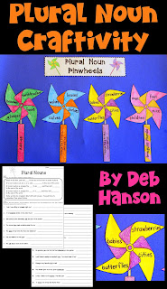 Plural Nouns Craftivity- this also makes a fun bulletin board or hall display! Includes two worksheets and the craftivity patterns.