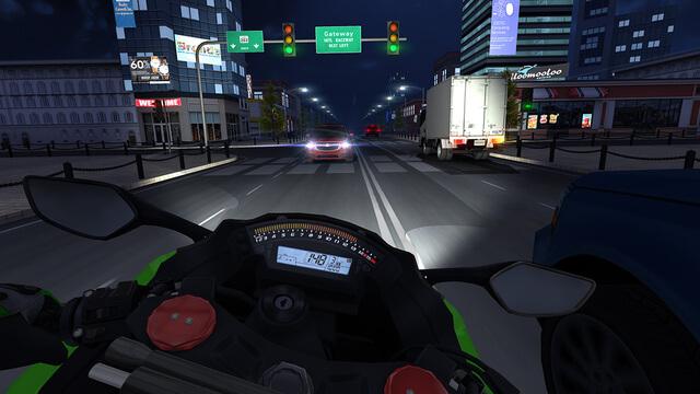 تنزيل لعبة Traffic Rider v1.4 مهكرة للاندرويد برابط مباشر