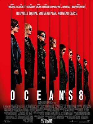 l'affiche avec les 8 héroines d'ocean's 8 sur lacn
