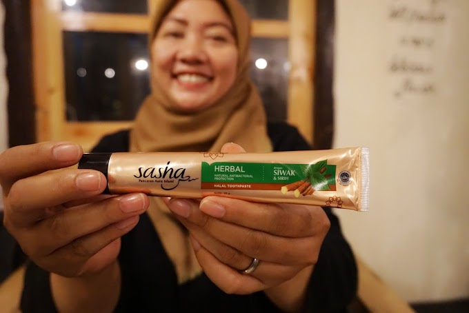 Sasha Toothpaste, Pasta Gigi Halal dengan Serpihan Siwak